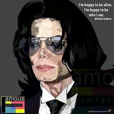 Michael Jackson canvas quotes wall decals photo painting framed pop art poster