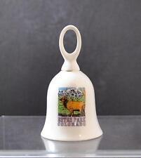 """Vintage Ceramic Bell Colorado Elk Mountain Estes Park Colorado About 4 3/4"""" R17"""