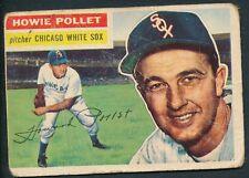 1956 Topps Baseball: #262 Howie Pollet -- Chicago White Sox P-F Gray Back