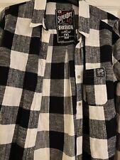 Superdry Ladies Medium Black And White Lumberjack Check Shirt