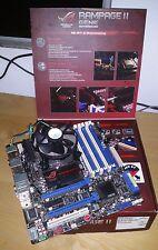 LGA 1366 Pack. Asus Rampage II gene x58 micro atx In BOX + e5620 +LCD