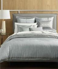 NEW Hotel Collection Interlattice Silver QUEEN Duvet Cover MSRP $335 WOW!