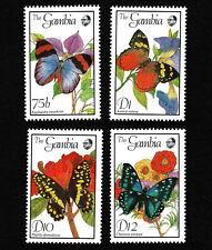 OPC 1989 Gambia Butterflies Lot of 4 MNH 34771