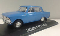 MOSKVITCH 408 BLUE ELITE SCALDIA CARAT LEGENDARY BALKAN CARS DEAGOSTINI IXO 1/43