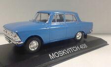 MOSKVITCH 408 BLUE ELITE SCALDIA CARAT LEGENDARY BALKAN CARS DEAGOSTINI IXO 1/43