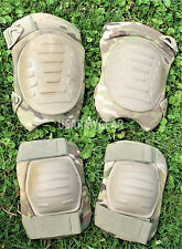 US Army USGI MULTICAM KNEE AND ELBOW PAD SET  OCP MCGUIRE NICHOLAS Spray Brown