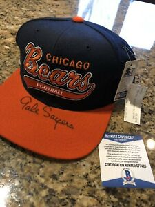 Gale Sayers Signed Autographed Chicago Bears Starter Hat Beckett Coa HOF
