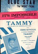 SHEET MUSIC BARGAIN CLEARANCE! BLUE STAR / TAMMY / IT'S IMPOSSIBLE