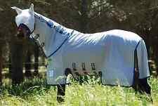 Horseware AMIGO Bug Buster Vamoose, Amigo Fliegendecke/Ekzemerdecke, blau-silber