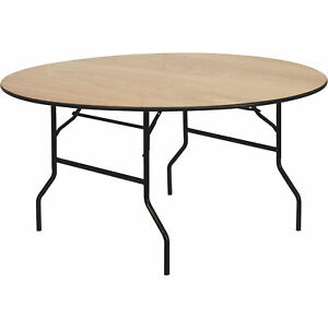 Flash Furniture Round Wood Folding Table- Natural 60in Dia. x 30inH YTWRFT60TBL