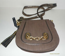 DOROTHY PERKINS * Brown & Gold Shoulder Bag * Adjustable Strap * New * Chains *