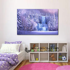 50x70x3cm Disney Frozen Waterfall Stretched FRAMED Canvas Prints Wall Art Decor