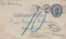 United State Cover New-York Entier Postal 1910 Taxe 10 cents >> Germany