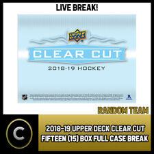 2018-19 UPPER DECK CLEAR CUT HOCKEY 15 BOX FULL CASE BREAK #H377 - RANDOM TEAMS