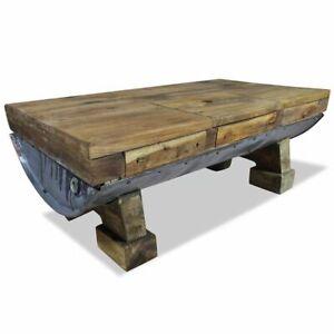 vidaXL Table Basse Bois de Récupération Massif Salon Canapé Table d'Appoint