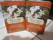 Numi Organic Jasmine Green Tea LOT of 2 BOXES