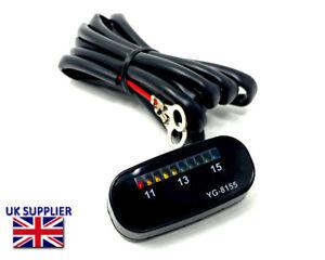 Moto LED Voltmètre Batterie Moniteur Niveau Jauge Compteur Lampe Clignotant