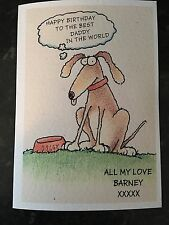 Personalised Card From The Dog Or Cat. Birthday Valentines Mother's Fathers Day