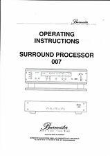 Burmester Bedienungsanleitung user manual owners surround 007 in englisch