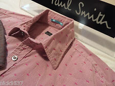 """PAUL SMITH Mens Shirt 🌍 Size S (CHEST 40"""") 🌎 RRP £95+ 🌏 STRIPED AND PATTERNS"""
