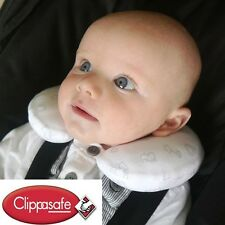 Clippasafe Baby Neck Pillow Support Head Car Seat Travel Newborn From Birth