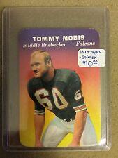 1970 Topps Glossy Inserts #1 Tommy Nobis  : Atlanta Falcons - A