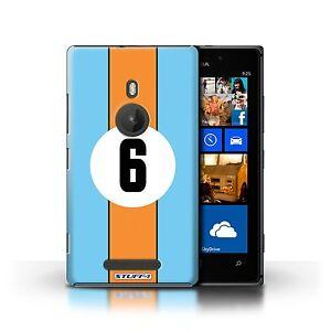 STUFF4 Case/Cover for Nokia Lumia 925/Racing Car Stripes/Gulf/Blue/Orange