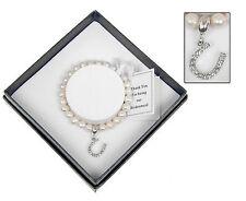 bracelet Equilibrium natural pearl bridesmaid wedding horseshoe Bangle gift