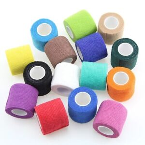 COHESIVE BANDAGE   PACK OF 2   SELF ADHERENT   ASSORTED COLOURS   VET WRAP  