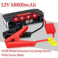 68800mAh 12V Auto Jump Starter Starthilfe Ladegerät Powerbank Mobile Batterie