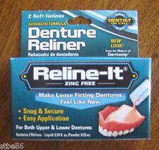 Dentemp Denture Reline-it Kit 2 soft Relines Reliner