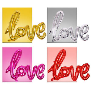PRIME LARGE LOVE SHAPE FOIL BALLOONS FOR BIRTHDAY HOUSE PARTY WEDDINGS VALENTINE