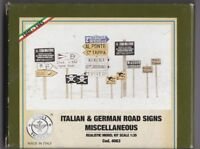 MODEL VICTORIA 4063 - ITALIAN & GERMAN ROAD SIGNS MISCELLANEOUS 1/35 RESIN KIT