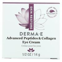 Derma E Peptides Plus Wrinkle Reverse Eye Creme Vegan Paraben Free - 14 g 0.5 oz