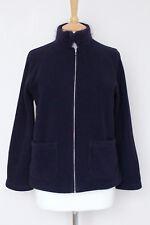 DOSA purple plum polar fleece zip knit collar cardigan jacket size 1 small S