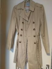 633 TU trench classic timeless design coat beige size 10