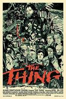 Framed Print - John Carpenter's The Thing Movie Poster (Picture Blu-Ray DVD Art)