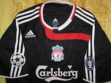 "Gerrard 8 Liverpool 2007 - 2008 away shirt Champions League jersey size ""L"" top"
