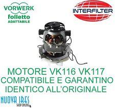 MOTORE PER FOLLETTO VORWERK ASPIRAPOLVERE VK116 VK117 COMPATIBILE COMPLETO CAVI