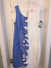 LILLY PULITZER SIRENA SHIFT SIZE 4 CLASSIC WHITE DRESS,FALLIN IN LOVE PLACED NEW