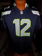 NWT Authentic Seattle SEAHAWKS #12 FAN NFL Nike Jersey Youth LARGE Boys Navy  $75