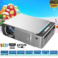 Multimedia 1080P LED LCD Projector Home Theater Beamer HDMI USB VGA AV EU Plug