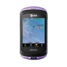 Pantech Swift P6020 AT&T Unlocked GSM Purple QWERTY Slider Phone