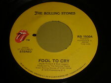 The Rolling Stones: Fool To Cry / Hot Stuff 45