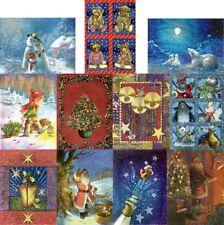 "Dufex picture prints 4 1/2"" x 5 3/4"" (110mm x 147mm)  B x 12 Christmas Very Rare"