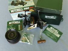 RARE VINTAGE MITCHELL 498 PRO SPINNING REEL & TOUNAMENT CASTING SPOOL NOS COMPL.