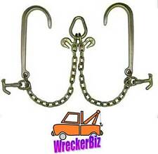G70 WRECKER TOW TRUCK V CHAIN BRIDLE HAMMERHEAD COMBO for Car Carrier, Rollback