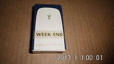 Cigarette paquet WEEK END  pack original vintage - contenu intact