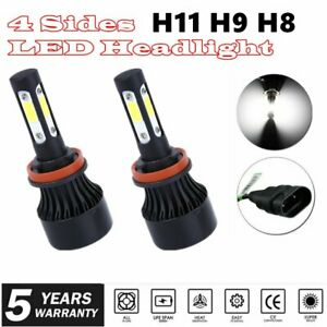 H8 H9 H11 2200W 320000LM LED Headlight Bulbs Conversion Kit 6000K High Low Beam