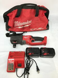 MILWAUKEE 2808-22 18-Volt Lithium-Ion 1/2 in. Hole Hawg Right Angle Drill Kit VG